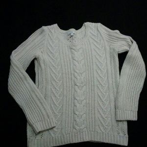 Cream color cable knit sweater